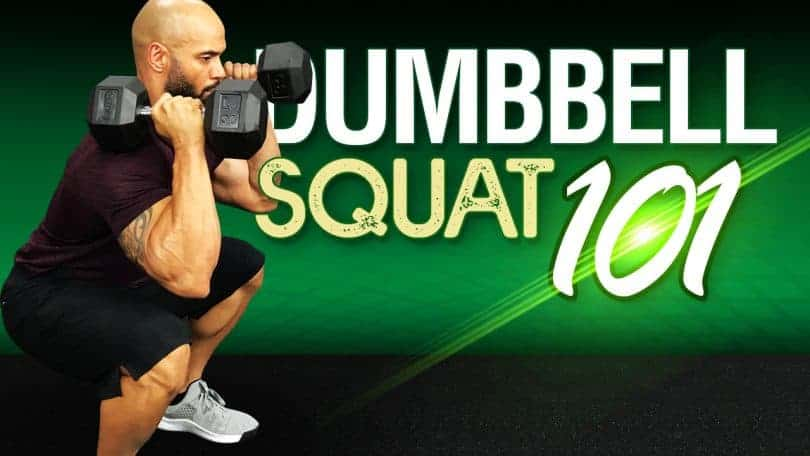 squatting with dumbbells