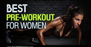 woman using supplements working out