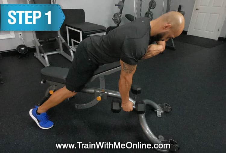 chest supported incline rows