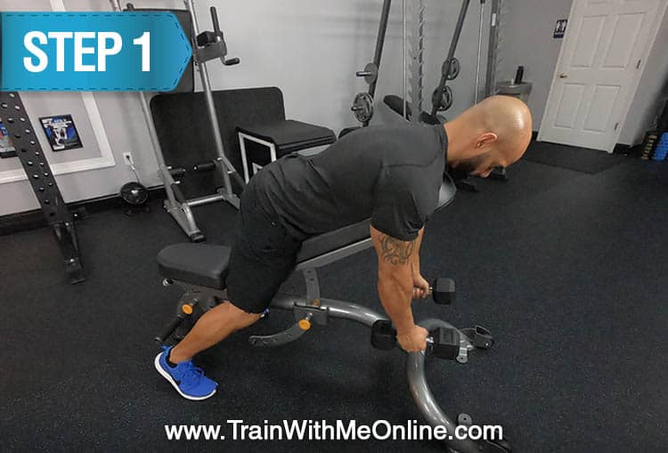 two arm chest supported db rows