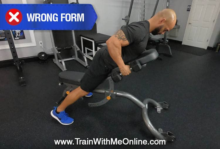 performing the db rows with bad form